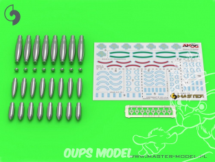 Master Model AM-24-013 Têtes pour Roquettes Britanniques RP-3 1/24