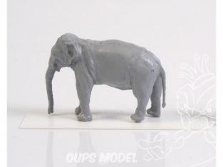Cmk kit figurine F72328 ÉLÉPHANT ASIATIQUE 1/72