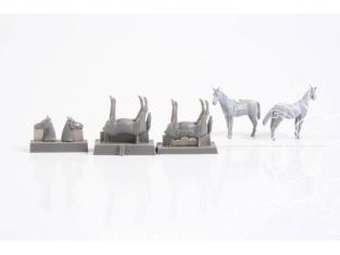 Cmk kit figurine F72329 CHEVAUX (2 figurines, un avec selle) 1/72