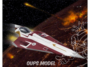 Revell maquette Star Wars 63614 Model Set Obi-Wan's Jedi Starfighter 1/80