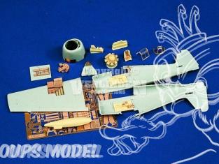 Verlinden kit amelioration avion 804ba Pour F6F-3/5 Hellcat pour academy boite incomplete 1/72