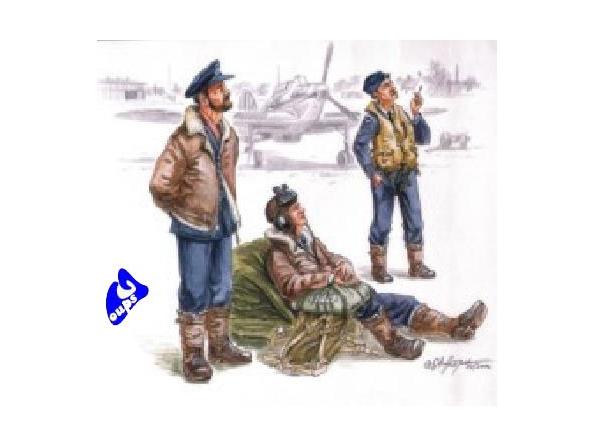 CMK figurine 72079 PILOTES BRITANNIQUES AVANT LE VOL 1/72