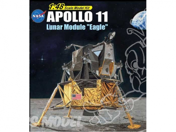 Dragon espace 11008 Apollo 11 Lunar module Eagle 1/48