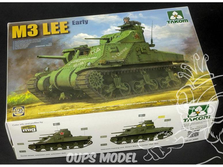 Takom maquette militaire 2085 Char M3 Lee 1/35