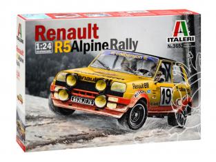 Italeri maquette voiture 3652 Renault R5 Alpine Rallye Monte Carlo 1/24