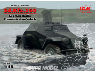Icm maquette militaire 48193 Sd.Kfz.260 Vehicule radio allemand 1/48