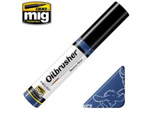MIG Oilbrusher 3527 Bleu marine Peinture a l'huile avec applicateur
