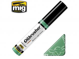 MIG Oilbrusher 3529 Vert clair Mecha Peinture a l'huile avec applicateur