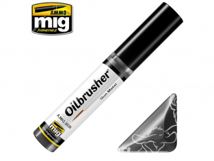 MIG Oilbrusher 3535 Gun metal Peinture a l'huile avec applicateur
