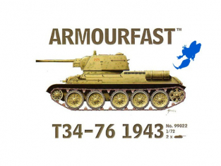 Armour Fast maquette militaire 99022 T34-76 1943 1/72