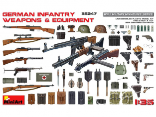 Mini Art maquette militaire 35247 Infanterie allemande avec équipement et armement WWII 1/35