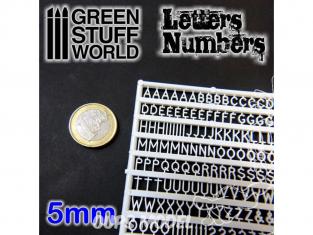 Green Stuff 364374 Lettres et nombres 5 mm