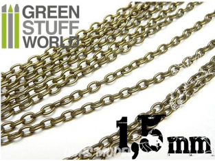 Green Stuff 360406 Chaine de Modelisme 1.5 mm 1 mètre