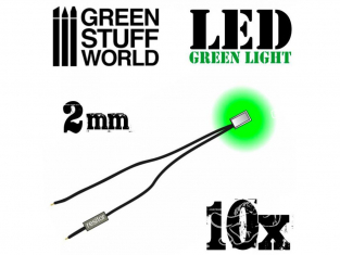 Green Stuff 364138 Lumières LED Vertes 1mm x10