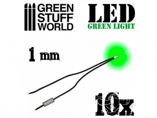 Green Stuff 364121 Lumières LED Vertes 1mm x10