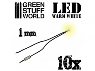 Green Stuff 363827 Lumières LED Blanche chaud 1mm x10