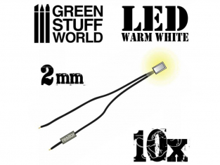 Green Stuff 363834 Lumières LED Blanche chaud 2mm x10