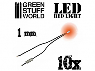 Green Stuff 363841 Lumières LED rouge 1mm x10