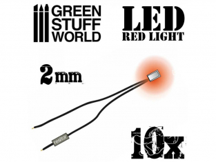 Green Stuff 363858 Lumières LED rouge 2mm x10