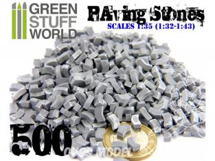 Green Stuff 367085 Briques pavés Gris x500