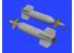 Eduard kit d'amelioration brassin 672161 GBU-11 1/72