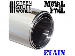 Green Stuff 367450 Feuille de métal flexible ÉTAIN