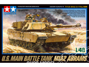 TAMIYA maquette militaire 32592 M1A2 Abrams 1/48