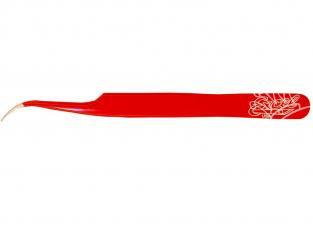 Excel outillage maquette 30426 Pince à épiler à pointe oblique (rouge)