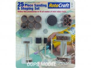 RotaCraft OUTILLAGE rc9001 SET DE 25 PIECES PONCAGE ET SCULPTURE