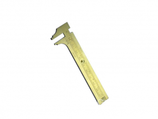 ModelCraft PGA1652 Jauge coulissante en laiton (80mm)