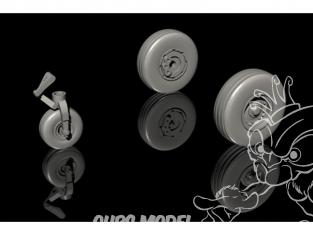 Cmk kit d'amelioration Q72285 Tucano T.1 Jeu de roues pour kit Airfix 1/72