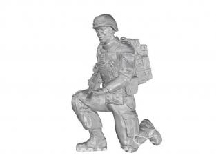CMK Personnage resine F48332 Soldat agenouillé (sur le genou gauche), US Army Infantry Squad 2e Division (partie 2) 1/48