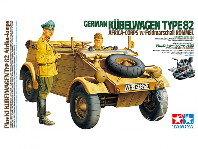 Tamiya maquette militaire 36202 Kübelwagen Type 82 Afrika 1/16