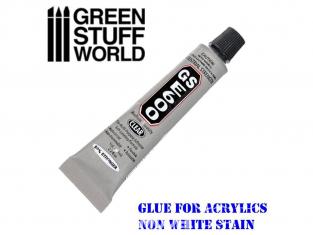 Green Stuff 368693 Adhésif E600 pour plastiques acryliques 9ml