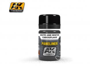 Ak interactive Peinture Enamel AK2074 Paneliner Camouflage hiver ou blanc 35ml