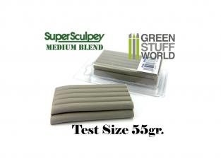Green Stuff 366958 Super Sculpey Medium Blend 55 gr. Taille d'essai