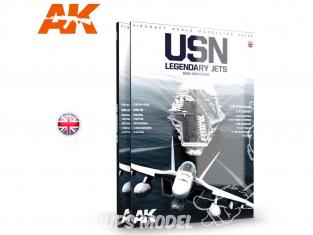 Ak Interactive livre AK278 Jets legendaire de l' US Navy en Anglais par Dani Zamarbide