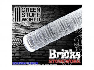 Green Stuff 361625 Rouleaux texturés effet BRIQUE MUR