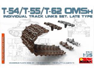 Mini Art maquette accessoires militaire 37048 Set de chenilles pour T-54,T-55,T-62 OMSh Late TYPE 1/35
