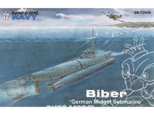"Special navy kit conversion sous marin 72006 Biber ""German Midget Submarine"" 1/72"