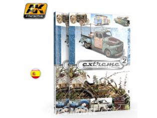 Ak Interactive livre AK504 Extreme 2 Véhicules viellis - Weathered vehicles / Réalité en Espagnol
