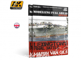 Ak interactive livre AK667 Modelling Full AHEAD Special Lexington's Final Battle 1/700 en Anglais