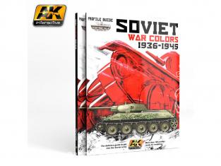 Ak Interactive livre AK270 Profile guide Couleurs Soviétiques Guerre 1936 - 1945 en Anglais