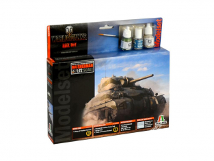 Italeri maquette avion modelset 74002 SHERMAN World of Tanks 1/72