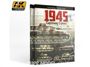 Ak Interactive livre AK403 Profile guide 1945 Couleurs Allemandes en Anglais
