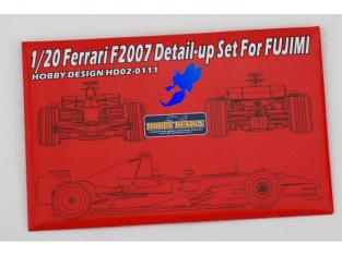 HOBBY DESIGN Photodecoupe 02-0111 pour Ferrari F2007 1/20