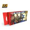 Ak Interactive Set peinture figurines AK3230 Couleurs uniforme IDF 6 x 17ml