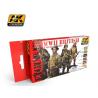 Ak Interactive Set peinture figurines AK3240 Couleurs uniforme Britannique WWII 6 x 17ml