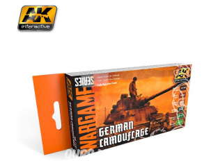 Ak Interactive Set peinture Wargame AK1167 Camouflage Allemand 6 x 17ml