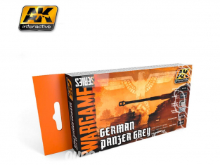 Ak Interactive Set peinture Wargame AK1160 Gris Panzer Allemand 6 x 17ml